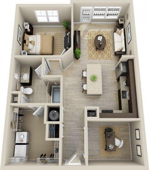 plan 3d pack immobilier 360 degres